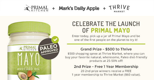 Primal Kitchen Mayo primal kitchen mayo is now available (plus a chance to win