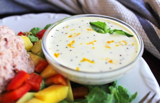 Primal Kitchen Dressing tuna mango salad with citrus poppy seed dressing | mark's daily apple