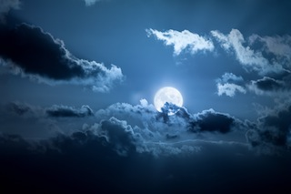 An image of a full moon night