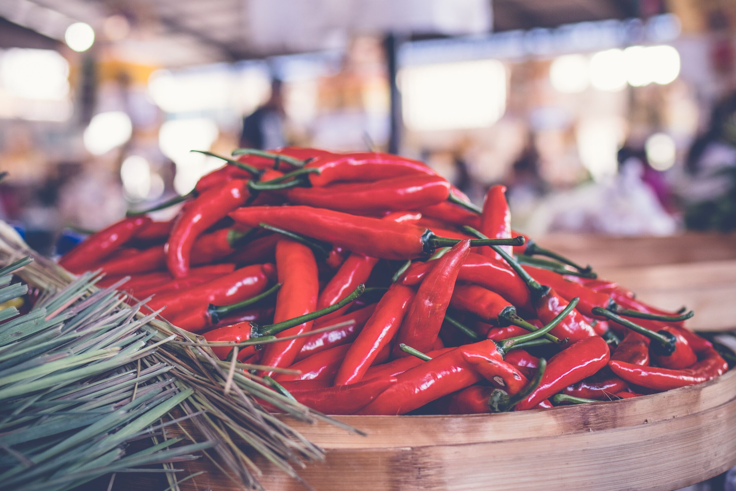red hot mirasol peppers