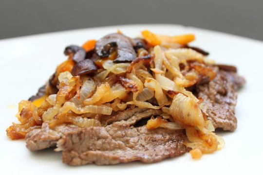 Philly Cheesesteak (with Optional Primal Cheddar Cheese Sauce) | Mark's Daily Apple
