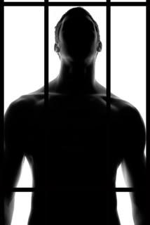 Muscular detainee being ass slammed