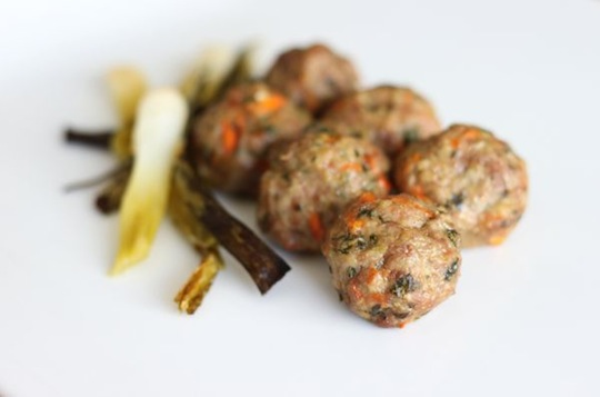 Ginger and Lemongrass Meatballs with Braised Scallions | Mark's Daily Apple
