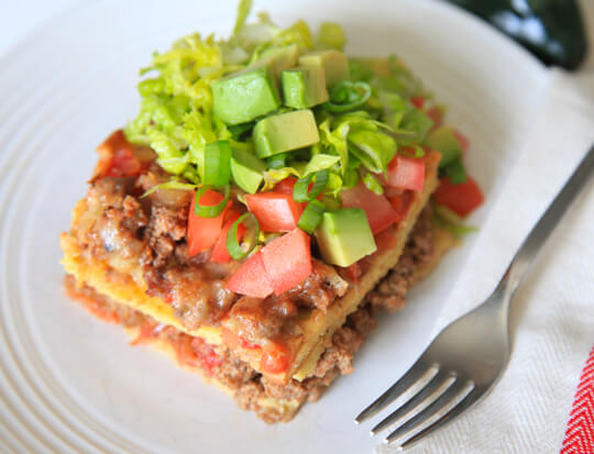 Layered taco casserole marks daily apple primal malvernweather Image collections