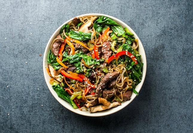 Beef Shirataki Stir Fried Noodle | Resep Mie Shirataki Basah untuk Diet