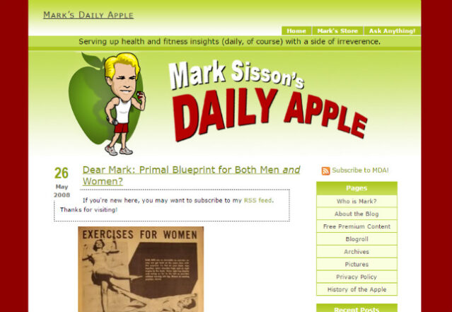 Mark's Daily Apple original blog image