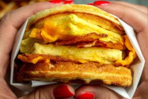 Keto Waffle Breakfast Sandwich (+ a Giveaway!)