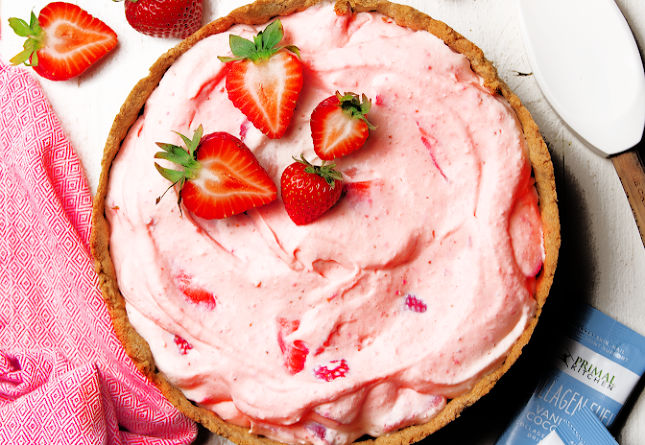 Keto Strawberry Cream Pie