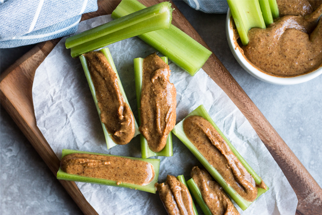 celery with nut butter