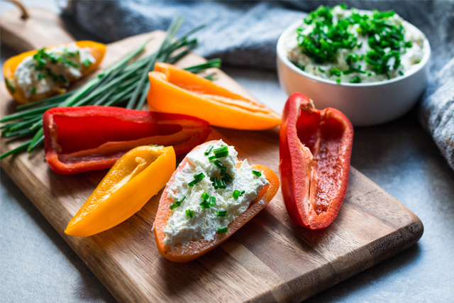 bell peppers and cream cheese
