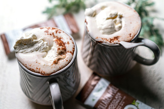 Mexican collagen hot chocolate