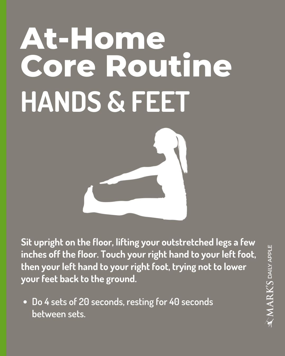 hands and feet core exercise