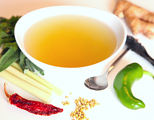 spicy chicken bone broth