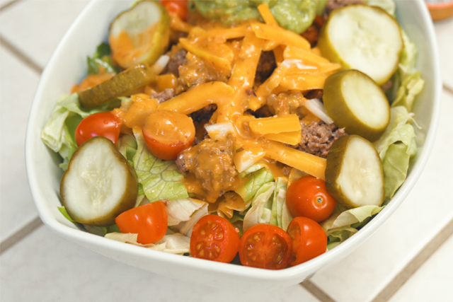 keto cheeseburger salad