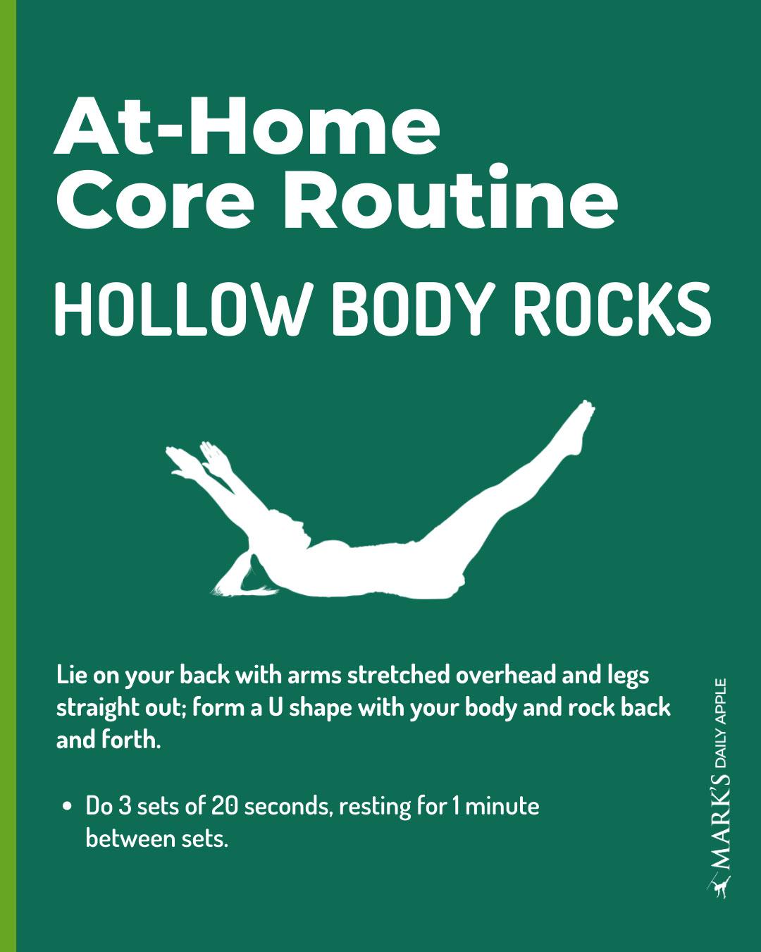 hollow body rocks core workout