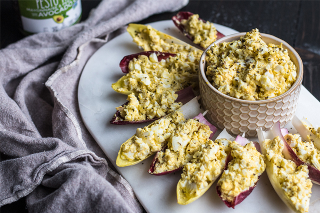keto pesto egg salad