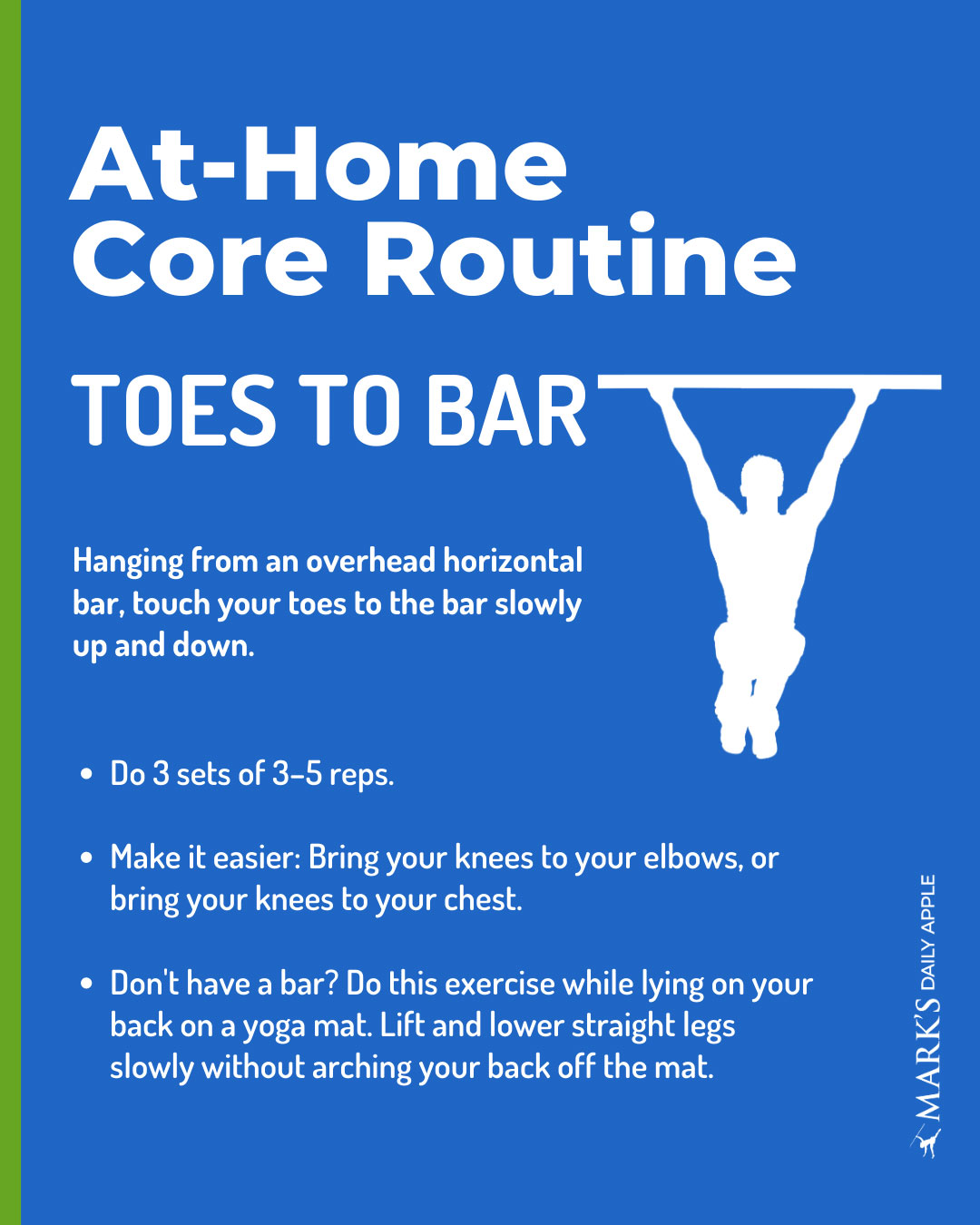 toes to bar core exercise