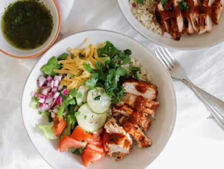 big ass salad chicken BBQ