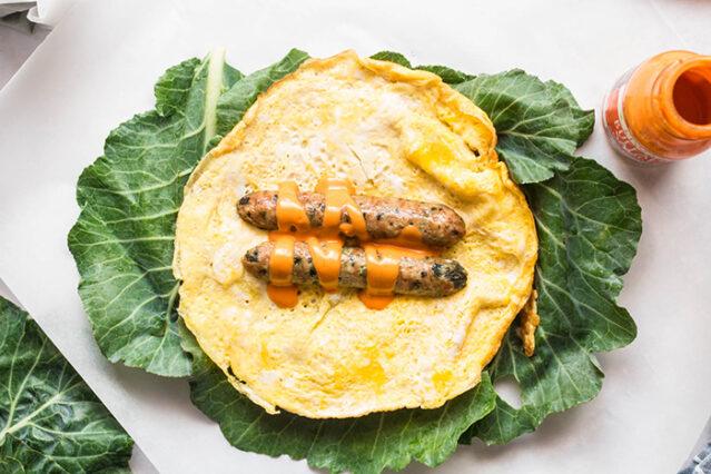 receita de embrulhos de ovo cetônico