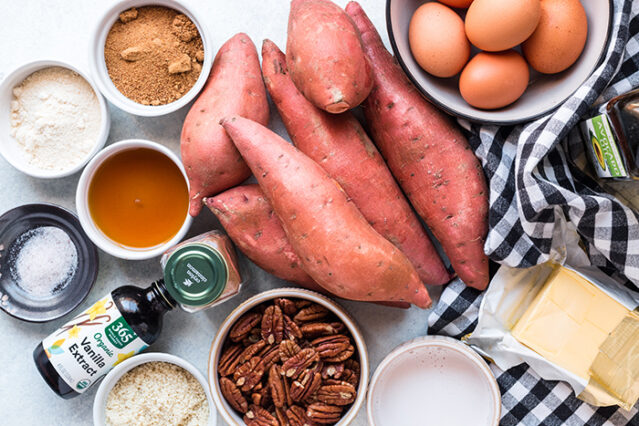 ingredients for sweet potato souffle recipe