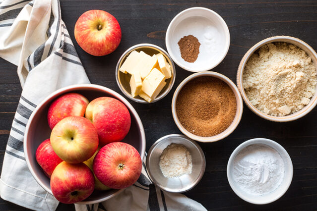 paleo gluten-free apple dump cake ingredients