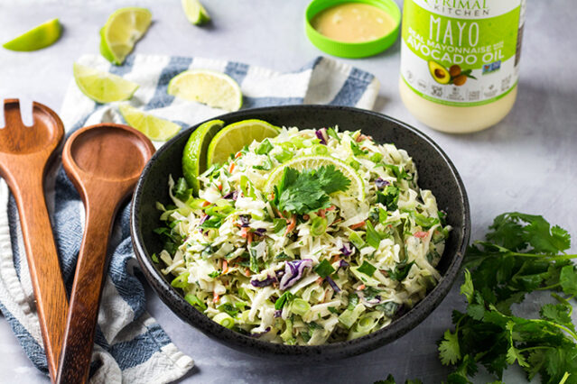 finished slaw from easy citrus coleslaw recipe