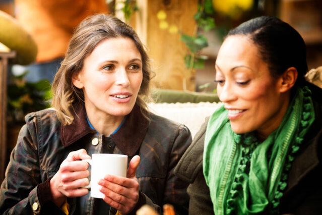 women over 40 having coffee