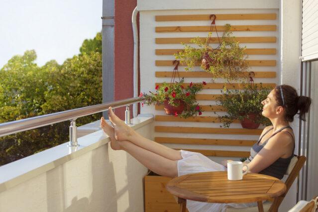 woman sitting in sun
