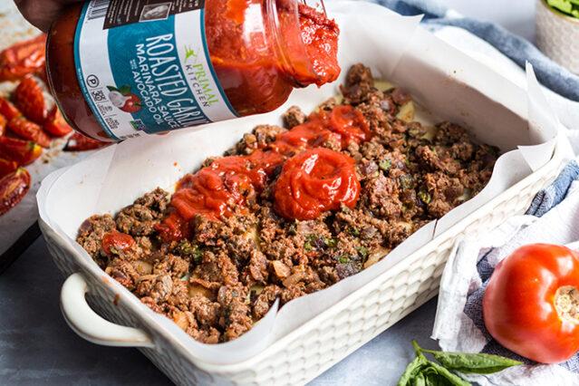 gluten free lasagna with sauce