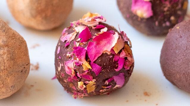 lavender rose truffles