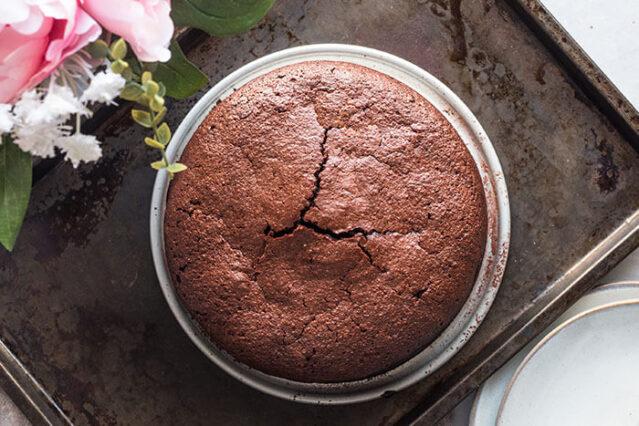 finished gluten free almond flour chocolate cake recipe