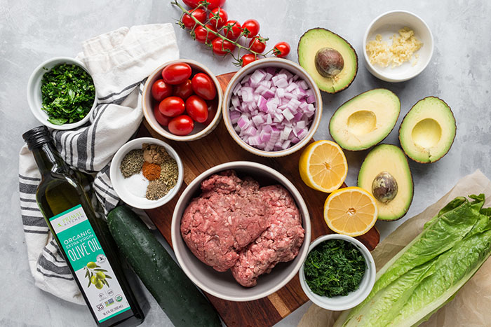 gyro taco salad with tzatziki guacamole recipe ingredients