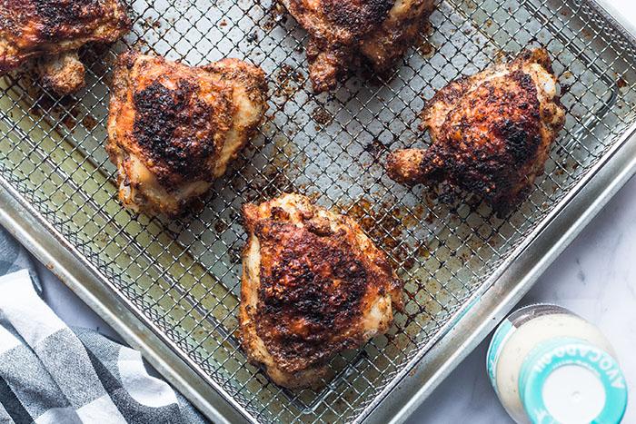 air fryer ranch chicken on the air fryer rack