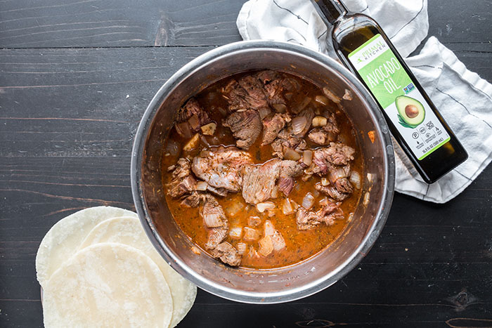 beef and spices for instant pot enchiladas recipe
