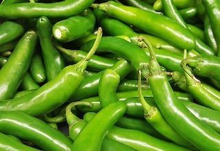 Green serrano peppers
