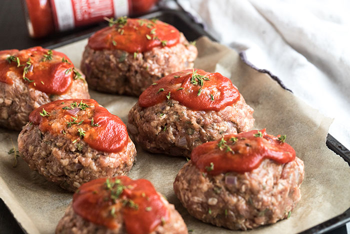 mini meatloaf recipe before baking