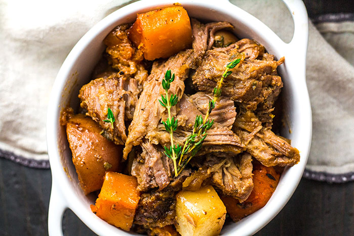 finished one pot braised pork with root vegetables recipe