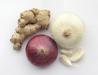 Garlic, ginger ,onion