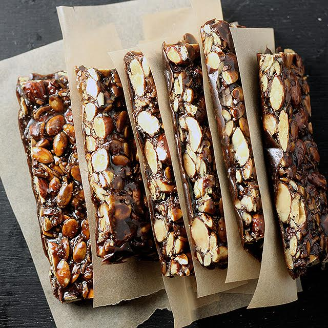 Dark Chocolate Almond Bars 2