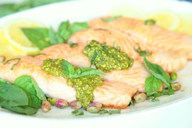 Feature_Salmon with Pistachio Pesto