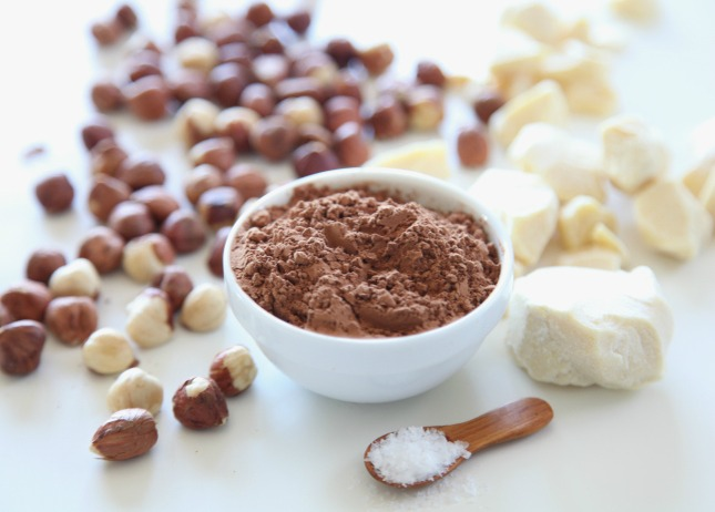 cacao powder and butter