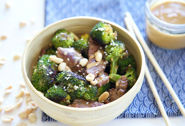 Beef & Broc with Peanut Sauce 2