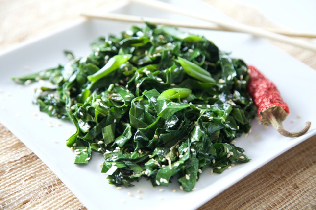 Greens with Fish Sauce 1